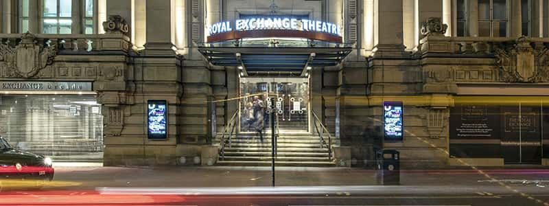 External View of Royal Exchange Theatre, late at night