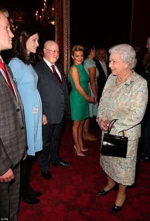 Dean Gregory with HM The Queen